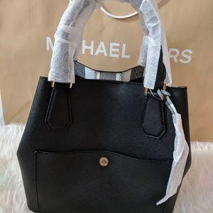 c002f318e716 ... italy michael kors leather greenwich grab tote bag in bl 8f802 b4cbb ...
